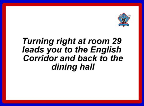 english corridor words