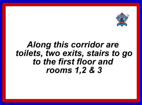 room 1 corridor